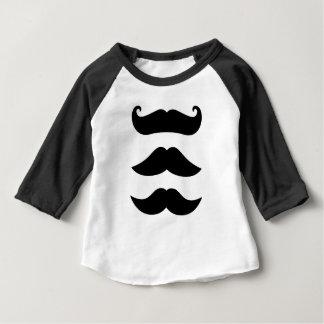 Edição do vintage dos bigodes dos desenhistas camiseta para bebê