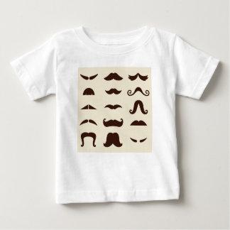 Edição dos miúdos dos desenhistas com bigodes camiseta para bebê