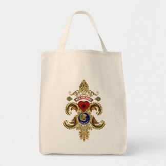 Edição especial dos santos do futebol lida sobre o sacola tote de mercado