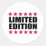 Edição limitada adesivo em formato redondo