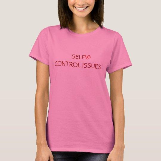 Edições do controle de auto de Selfie Camiseta