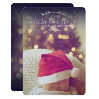Editável clássico com o cartão de Natal do amor
