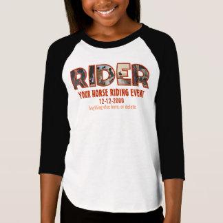 Editável, (competição da equitação do estilo camiseta