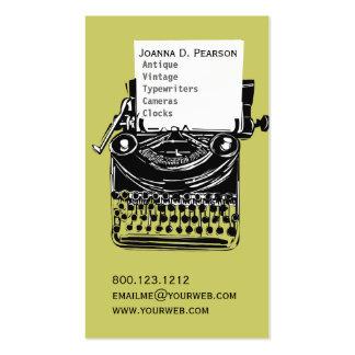 Editor antigo do escritor da máquina de escrever d modelo de cartões de visita
