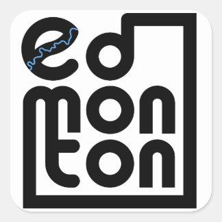 Edmonton em uma etiqueta da caixa