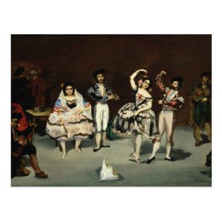 Edouard Manet - balé espanhol Cartão Postal