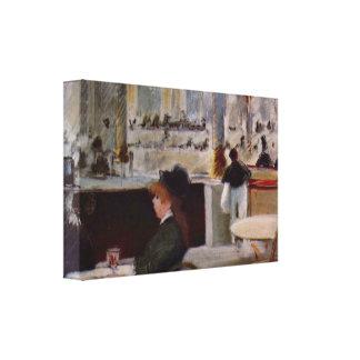 Edouard Manet - cópia no café Impressão De Canvas Esticada