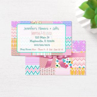 Edredão cor-de-rosa bonito & cartão de visita do