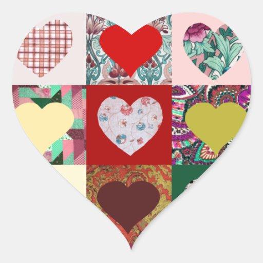 Edredão dos corações do amor adesivos em forma de corações