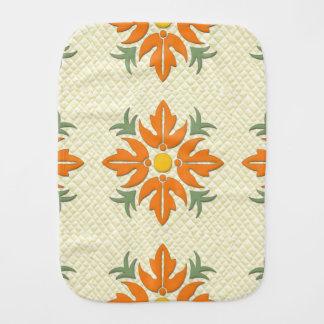 Edredão havaiana da flor do estilo alaranjada & fraldinhas de ombro