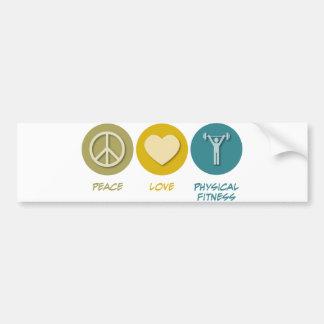 Educação da malhação física do amor da paz adesivo para carro