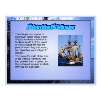 Educação, história, a bordo do Mayflower Cartão Postal