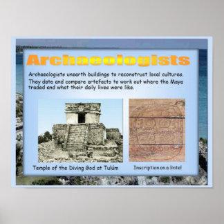 Educação, história, América, arqueologia maia Posteres