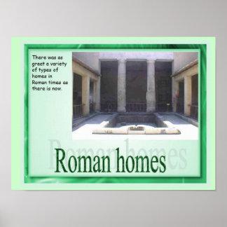 Educação, história, casas romanas posters