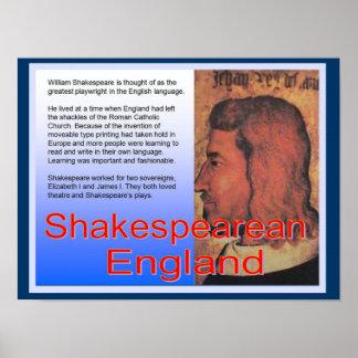 Educação, história, Inglaterra shakespeariano Pôster