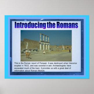 Educação, história, romanos, introdução poster