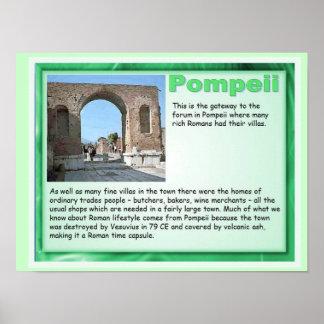 Educação, história, romanos, Pompeii Poster