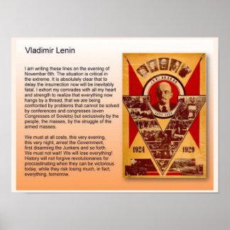 Educação, história, Rússia, Vladimir Lenin Poster