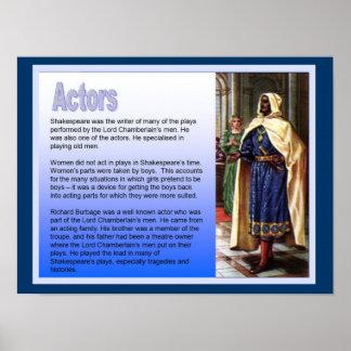 Educação, história, Shakespeare, atores Pôster