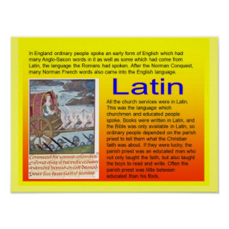Educação, história, uso medieval do latino poster