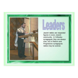 Educação, religião, judaísmo, líderes cartão postal