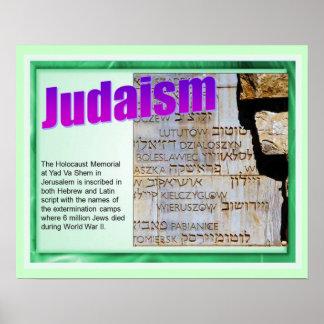 Educação, religião, judaísmo, memorial do poster