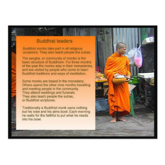 Educação religião líderes budistas cartões postais