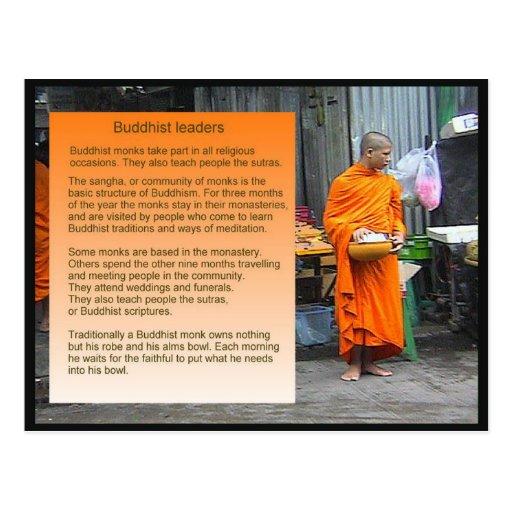 Educação, religião, líderes budistas cartões postais