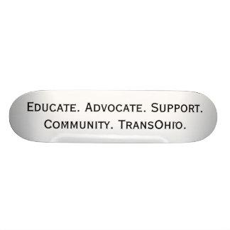Eduque. Advogado. Apoio. A comunidade. TransOhio. Shape De Skate 19,7cm