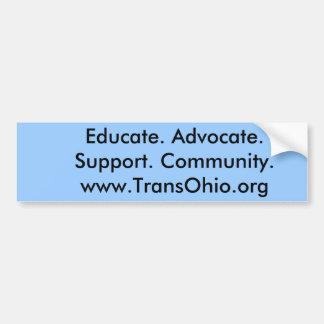 Eduque. Advogado. Apoio. Community.www.Trans… Adesivo Para Carro
