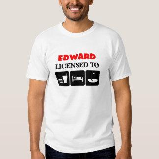 Edward licenciou para golf t-shirt