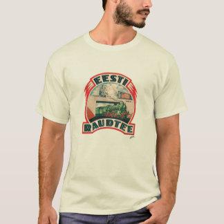 Eesti Raudtee - t-shirt estónio da estrada de Camiseta