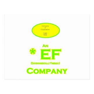 EF - Envirnomentally Company1 amigável Cartões Postais
