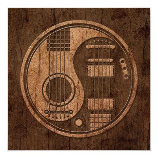 Efeito acústico da madeira de Yin Yang das Convite Quadrado 13.35 X 13.35cm