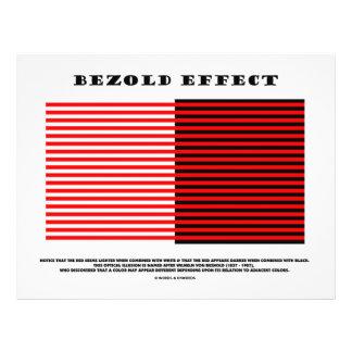 Efeito de Bezold ilusão óptica Panfletos
