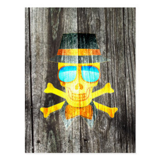 Efeito de fundo cinzento de madeira do chapéu cartão postal