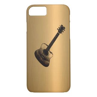 Efeito do cobre do bronze da guitarra do capa iPhone 7