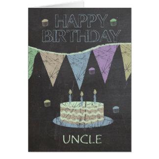 Efeito do conselho de giz do tio Na moda, bolo de Cartão Comemorativo