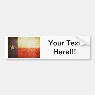 Efeito do Grunge da bandeira de Texas Adesivos