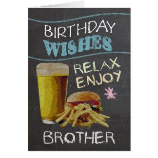 Efeito na moda do conselho de giz do irmão, com cartão comemorativo