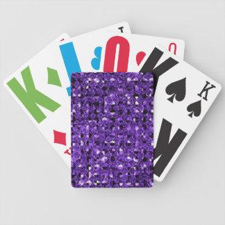 Efeito roxo do Sequin Jogos De Cartas