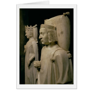 """Efígies do túmulo de Charles V o """"sábio"""" (13 Cartão"""
