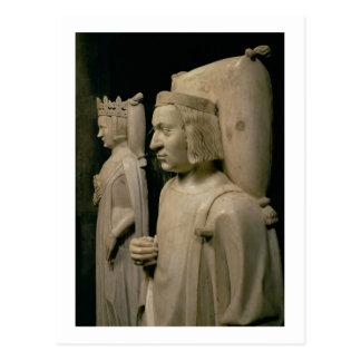 """Efígies do túmulo de Charles V o """"sábio"""" (13 Cartão Postal"""