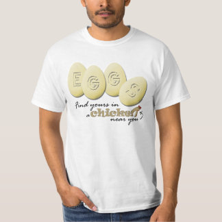 Eggs a camisa do slogan