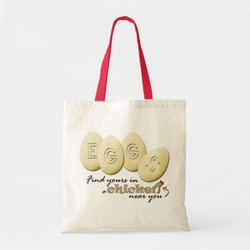 Eggs o bolsa do slogan
