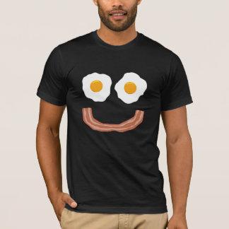eggs o smiley do bacon camiseta