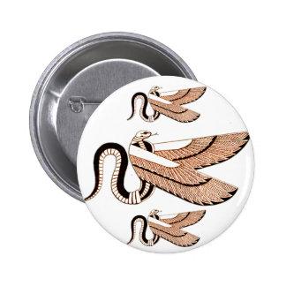Egípcio antigo símbolo voado da serpente boton