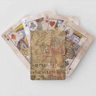 Egípcio jeroglífico baralhos para pôquer