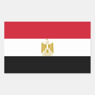 Egipto/bandeira egípcia adesivo retangular