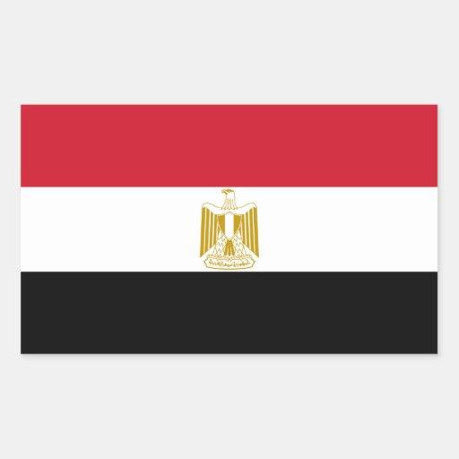Egipto/bandeira egípcia adesivos retangulares